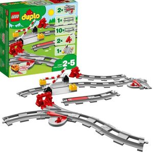 ASSEMBLAGE CONSTRUCTION LEGO® DUPLO® Ma ville 10882 Les Rails du Train