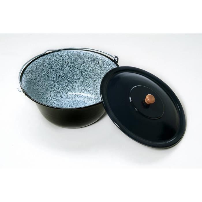 Bouilloire à goulasch hongroise 30 litres émaillée avec couvercle
