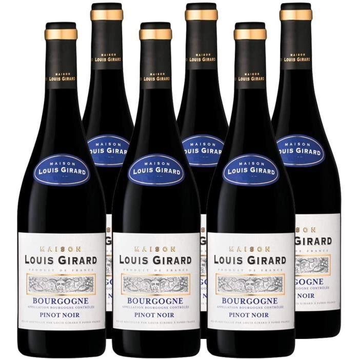 Maison Louis Girard - Pinot Noir - AOP Bourgogne - Vin Rouge - Millésime 2018 - Lot de 6 bouteilles x 75 cl