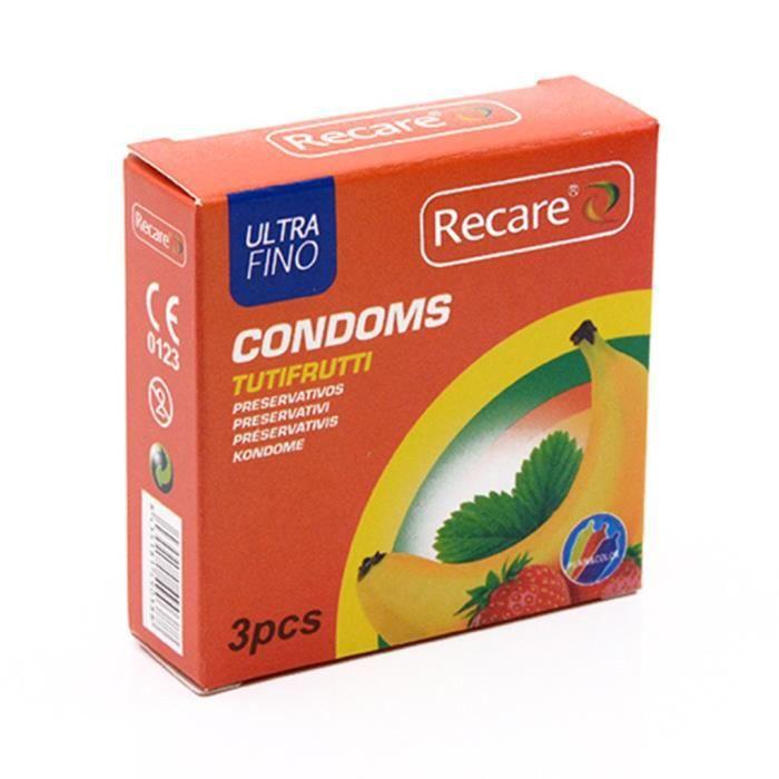 Fournitures pour adultes 3PCS Pleasure Me - Condom pour hommes ultra-mince et très soluble dans l'eau YJJ200331389OR_Youn