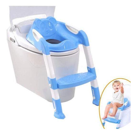 Siège/Pot Pour Bébé avec échelle Enfants Siège de Toilette Wc Pour Enfant Chaise Pot Bébé Pliante