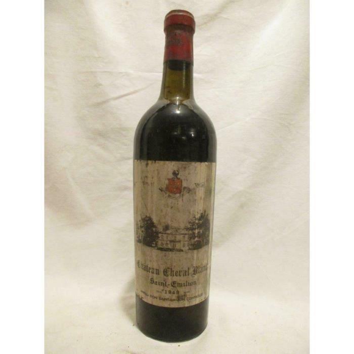 saint-émilion château cheval blanc (mise coppin bruxelles bouteille soufflée) grand cru rouge 1949 - bordeaux