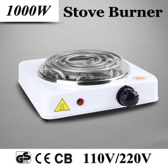 Plaque Posable 1000W Réchaud Electrique Mini Brûleur Café Thé Aliment Réchauffer 220V UE