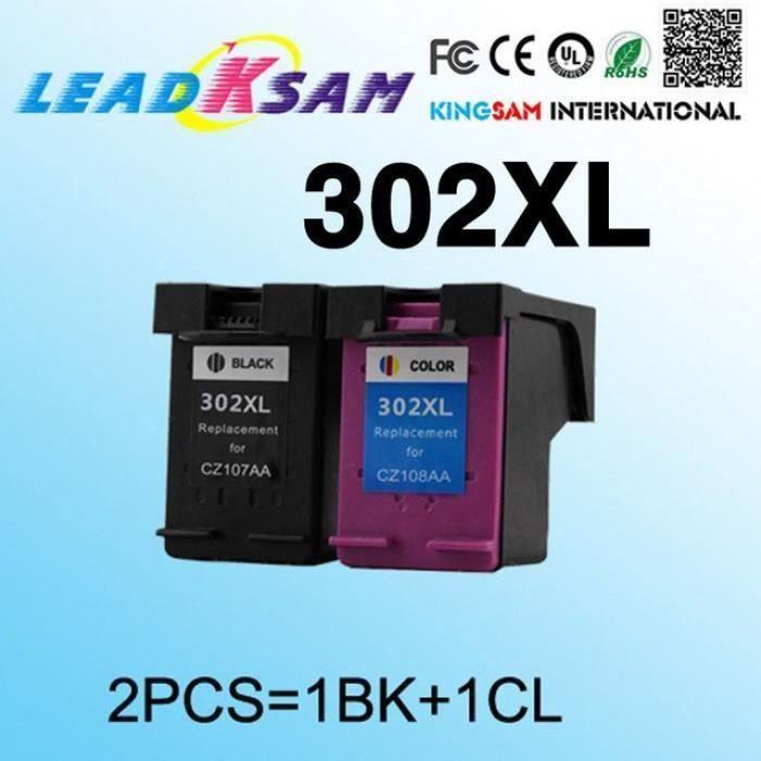 2x Compatible Pour Hp302 302xl Remplacement De La Cartouche D'Encre Hp 302 Envy 4520 4521 4522 4523 4524 Imprimante #75 Y085