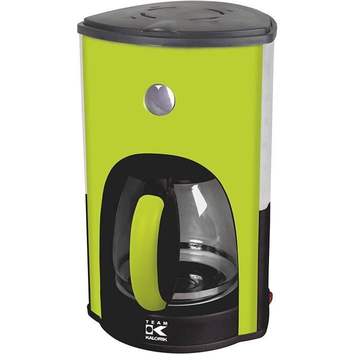 Team Kalorik Cafetière à Filtre avec Capacité 1.8 L, Verseuse en verre, Jusqu'à 15 tasses, 1000 W, Vert Pomme, TKG CM 1045 AG