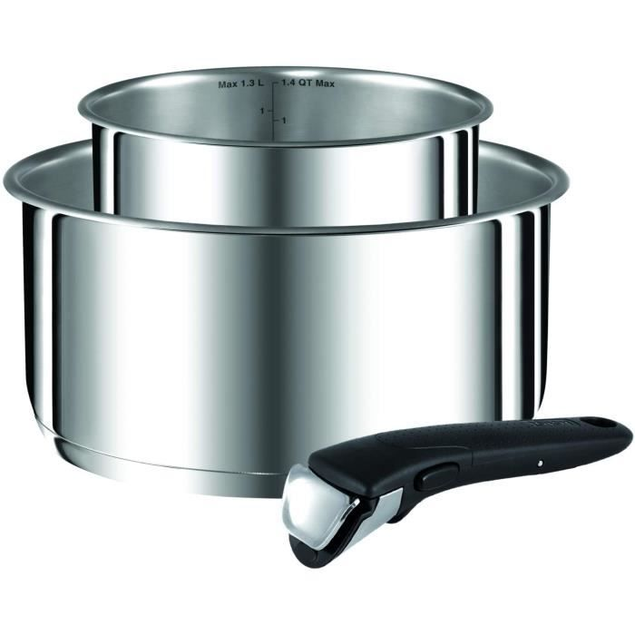 FAITOUT MARMITE Tefal Ingenio Preference Inox Lot Casseroles 1620 cm 153 L Induction Poigneacutee Amovible Induction L9408802139