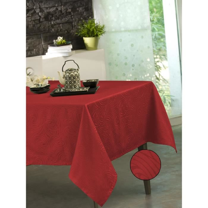 Nappe Stacy Rouge 150x300 cm