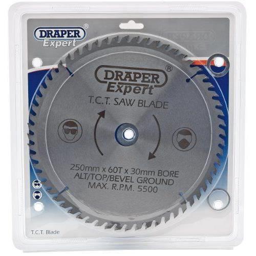Draper 09488 Lame de scie TCT 60 dents 250 x 30 mm (Import Grande Bretagne)