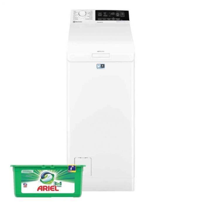 ELECTROLUX LAVE LINGE TOP 7KG 1300trs/min 13 programmes Machine à laver