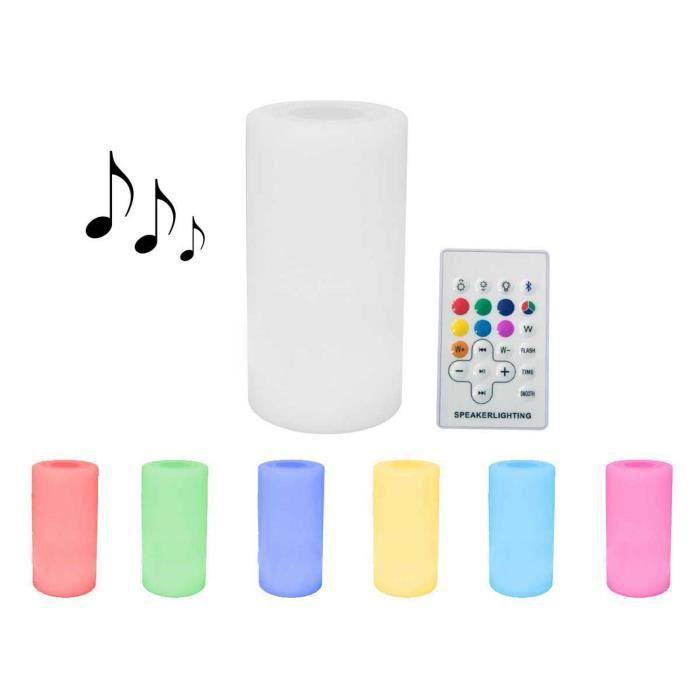 Eclairage LED sonore Bluetooth de jardin -Rosa 1- - Ø14 x H27 cm