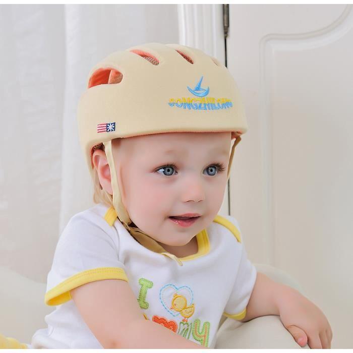 Bébé Sécurité Casque De Protection Anti-choc pour Bébés Enfants Garçons Filles Coton Infantile Protection Chapeaux Enfants -beige