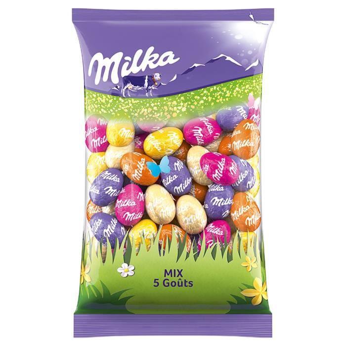 MILKA Chocolat Petits Oeufs Mix 5 Goûts - 500 g