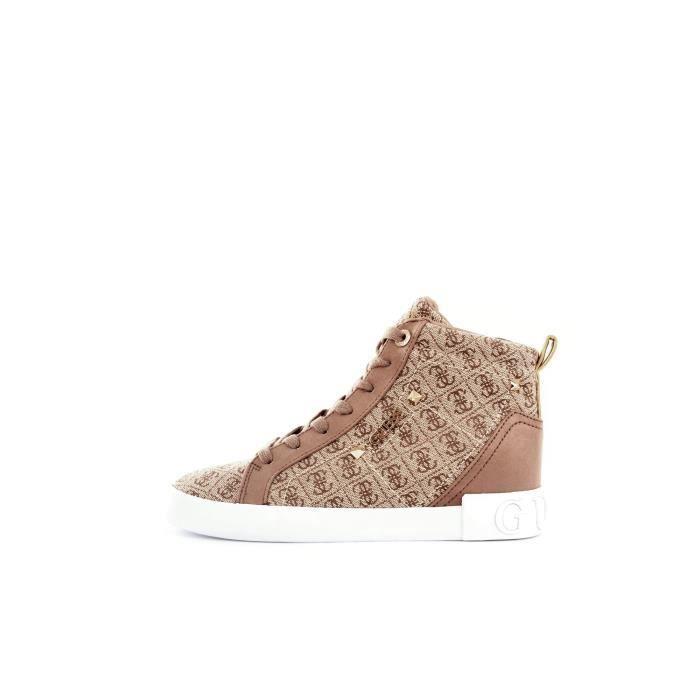 GUESS FL5PR2FAL12 chaussures de tennis haute Femme MARRON