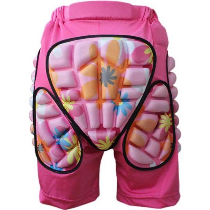 Rose Enfants Adultes De Protection Hip Pantalon Shorts Réglable Léger Pad pour Ski Snowboard Roller Patinage Hockey Soccer