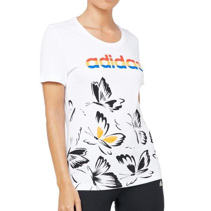 T-shirt Blanc Femme Adidas FARM P TSHIRT
