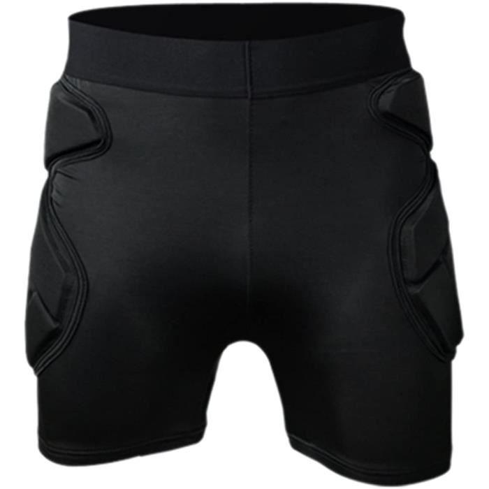 KZY Court Pantalon Gardien de But Vêtements Coude Patins Casque Kneecaps Noir