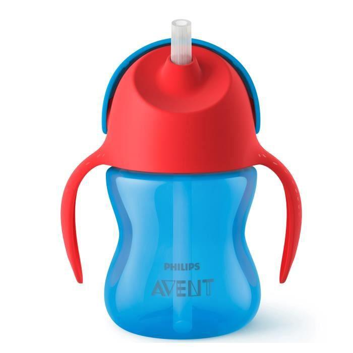 PHILIPS AVENT SCF796/01 Tasse à paille - 200ml - 9 mois+ - Bleu/Rouge