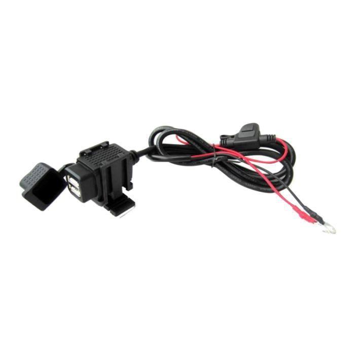 1PC moto chargeur de téléphone Moto USB GPS dispositif de charge double Interface pour femmes LECTEUR INTERNE DE CARTE MEMOIRE