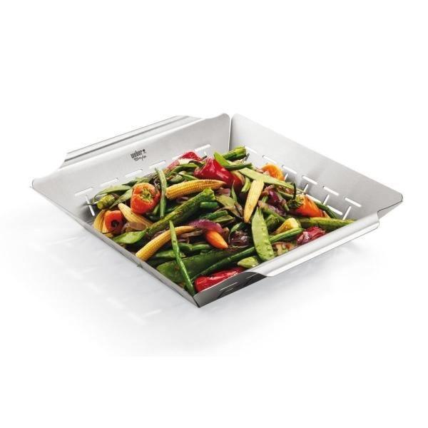 WEBER Panier à légumes carré Deluxe - Acier inoxydable