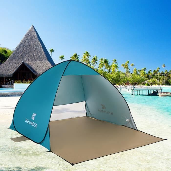 Tente de Plage Automatique Pop-Up pour 1-3 Personnes Jardin et Activit/és Ext/érieurs Pique-Nique Osaloe Tente Instantan/ée P/êche Bleu Tente de Camping Portable pour Randonn/ée