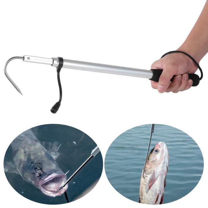 Crochet pointu de crochet de pêche d\/'acier inoxydable de gaffe de pêche