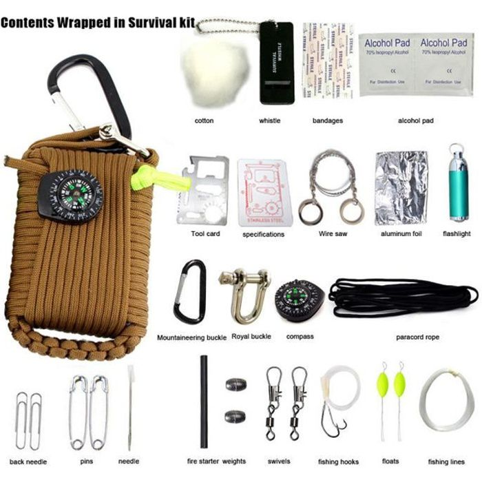 """100 Tampons De Gaze 4/"""" x 4/"""" Premiers Secours Emergency Camping Hunting Survival Kits"""