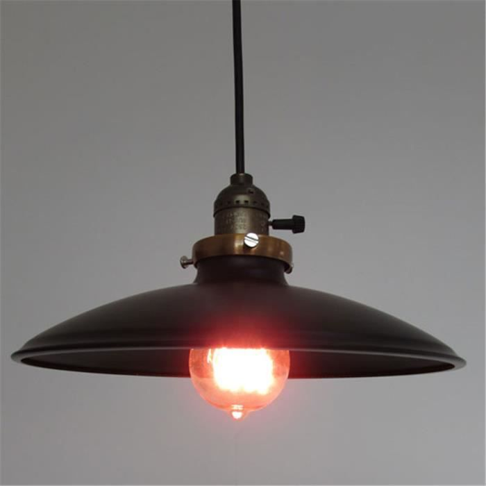 Ferandhome r tro industriel lampe suspension plafonnier luminaire am ricain r - Suspension luminaire style industriel ...