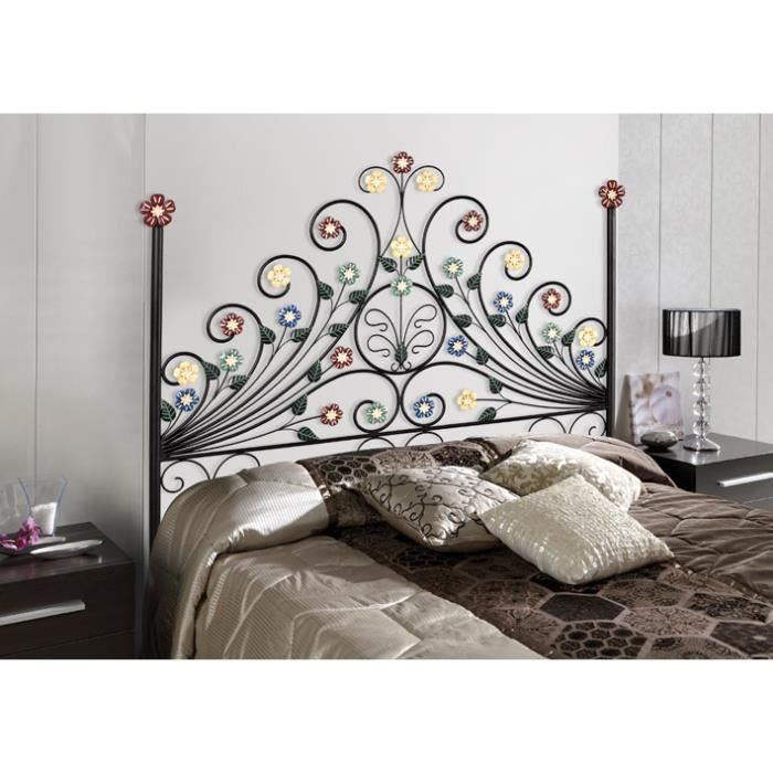 t te de lit en fer forg mod le susana achat vente t te de lit cdiscount. Black Bedroom Furniture Sets. Home Design Ideas