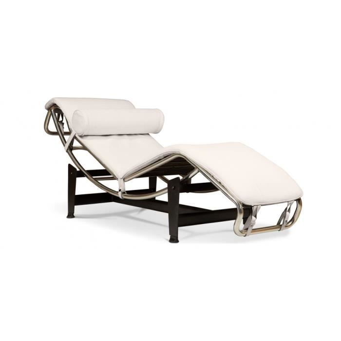 lc4 chaise longue le corbusier pu achat vente chaise cdiscount. Black Bedroom Furniture Sets. Home Design Ideas