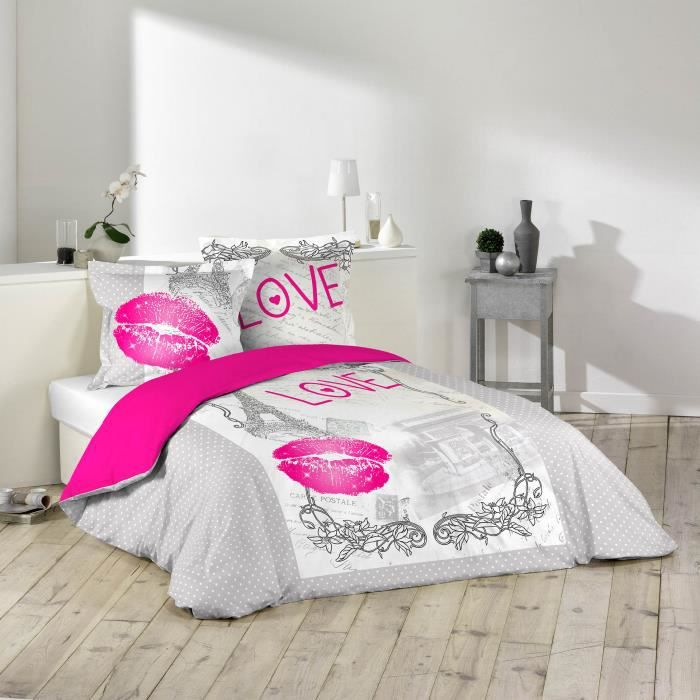 housse de couette de 2 personnes 220 x 240 cm taies. Black Bedroom Furniture Sets. Home Design Ideas