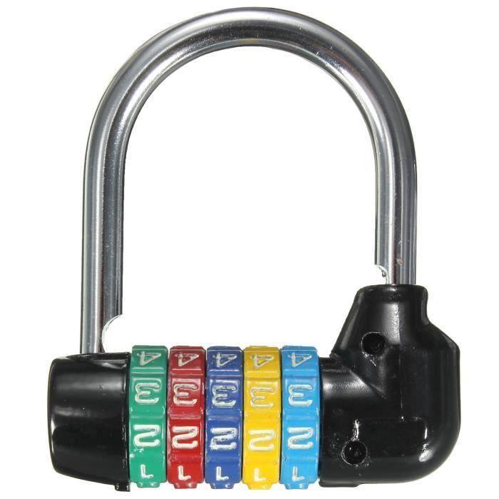 Serrure sécurité pour bagages Cadenas à code de mot passe combiné à 4//5 chiffres