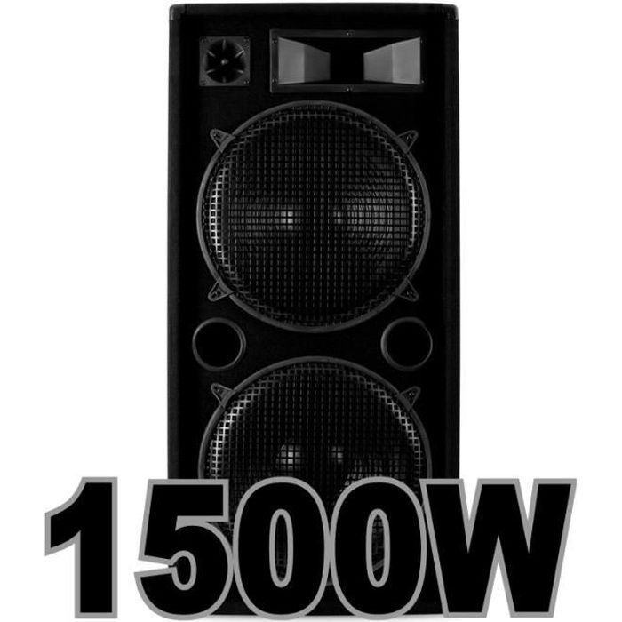 enceinte sono dj 1500w a fou pack sono avis et prix pas cher cdiscount. Black Bedroom Furniture Sets. Home Design Ideas