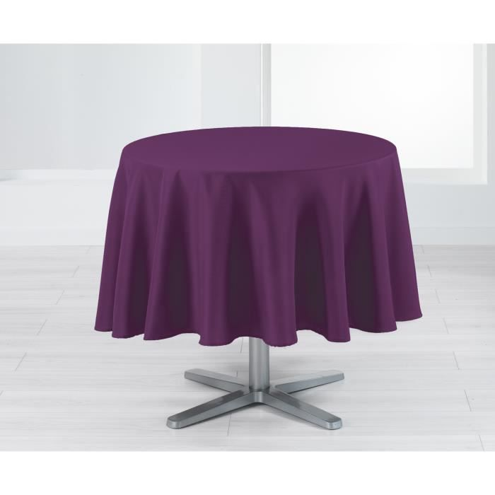 nappe ronde 180 cm holly prune achat vente nappe de table cdiscount. Black Bedroom Furniture Sets. Home Design Ideas
