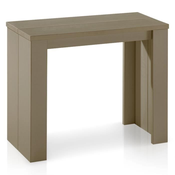 Table console brookline taupe achat vente table for Table de salle a manger pliante