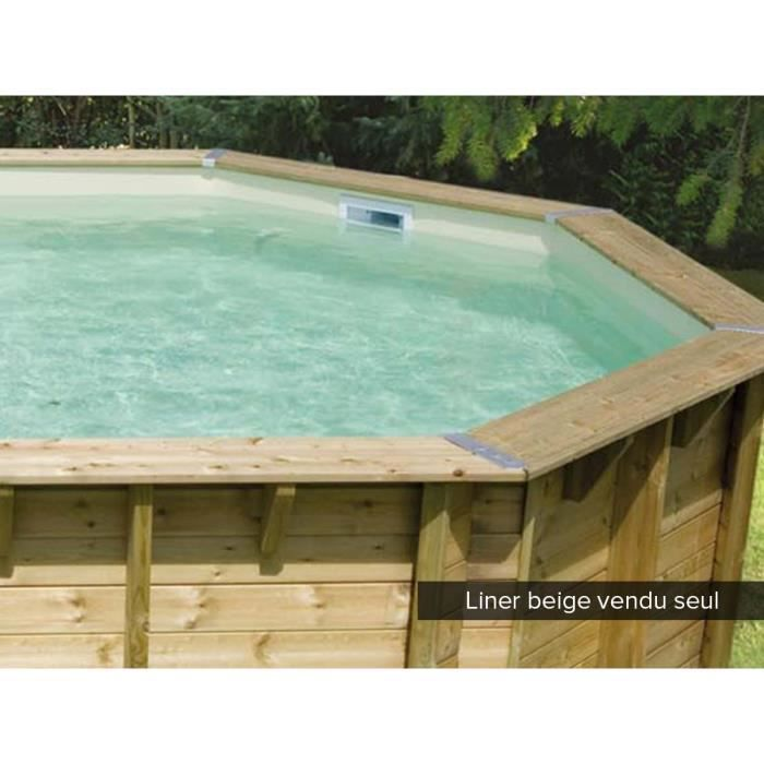 liner seul pour piscine bois lin a 15 50 x 3 50 x 1 55 m beige achat vente coque liner. Black Bedroom Furniture Sets. Home Design Ideas