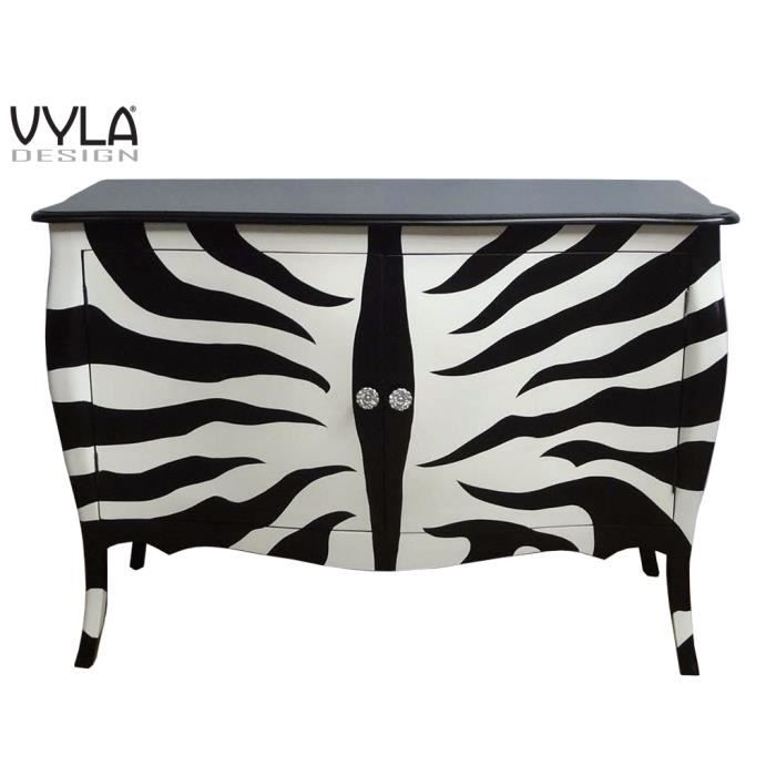 Buffet zebra vyla design achat vente buffet bahut for Meuble zebre