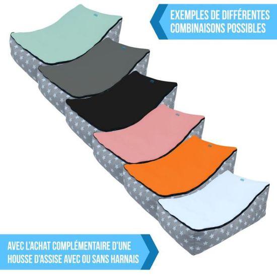 6 coloris Norme NF EN12790 Monsieur B/éb/é /® Housse dassise avec harnais pour pouf Monsieur B/éb/é