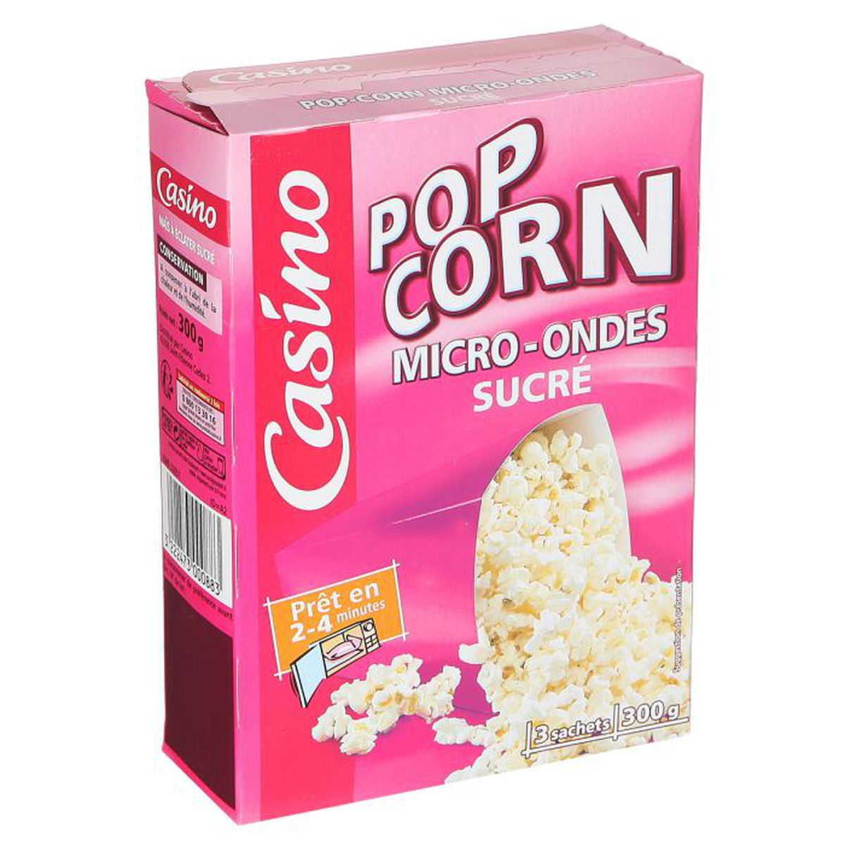 casino popcorn sucr micro onde 300g achat vente biscuits ap ritif casino popcorn sucr m o. Black Bedroom Furniture Sets. Home Design Ideas