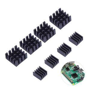 CARTE MÈRE 8pcs en aluminium noir Dissipateur Cooler Kit de r
