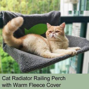 CORBEILLE - COUSSIN Cat Radiateur Lit Cat Balustrade Perch Hamac chaud