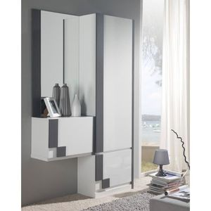 penderie entree achat vente penderie entree pas cher cdiscount. Black Bedroom Furniture Sets. Home Design Ideas
