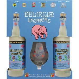 BIÈRE Coffret Delirium 2x75cl + 1 verre