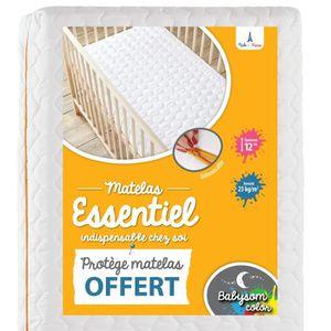 MATELAS BÉBÉ Babysom - Matelas Bébé Essentiel + 1 Protège matel