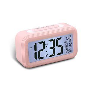 Radio réveil LEEGOAL Réveil numérique multifonction (rose, ABS,