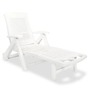 Chaise Longue En Plastique Blanc