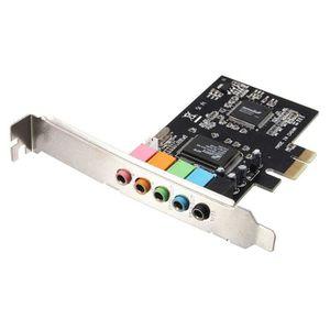 CARTE CONTROLEUR PCI Express PCI-E 5.1 canaux 3D Audio 6 canaux C