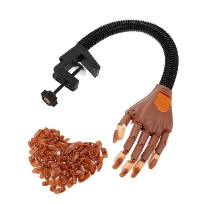 Haut qualité Nail art Outil Nail Formation Pratique Doigt Main Flexible d'ABS +100 Pièces Faux Ongles