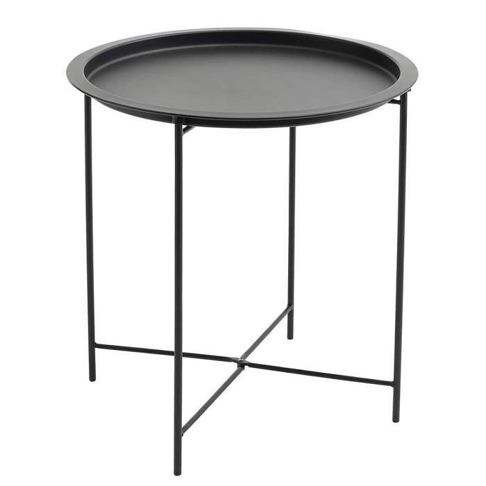 MING Table d'appoint ronde au design scandinave - Table basse avec plateau amovible