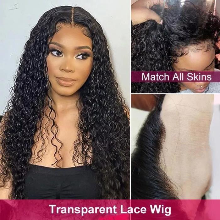 Perruque Femme Brésilien 13*4 Lace Frontale 12 Pouces Bouclé Wave VIPbeauty Hair 150% Densité