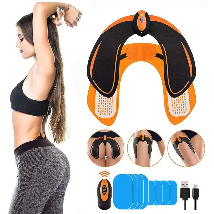 EGEYI EMS Fessier Hanche,Hip Stimulator Trainer,Electrostimulateur Musculaire Fesser,Hips Trainer Massage Ceinture Home Office Gym W